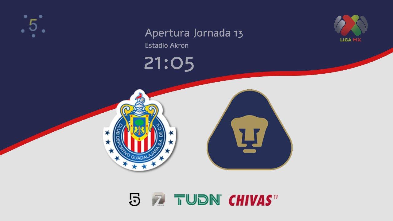 Chivas igualo 1-1 ante Pumas Jornada 13 Liga MX Apertura 2019