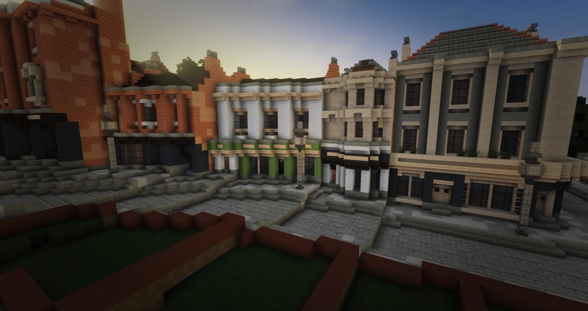 Wbcbooos On Twitter I Ve Been Busy Today Finished One Side Of Bridge Street These Are All Shops With A Couple Of Terraced Houses In The Side Road Minecraft Minecrafttowns Andyisyoda Worldofkeralis