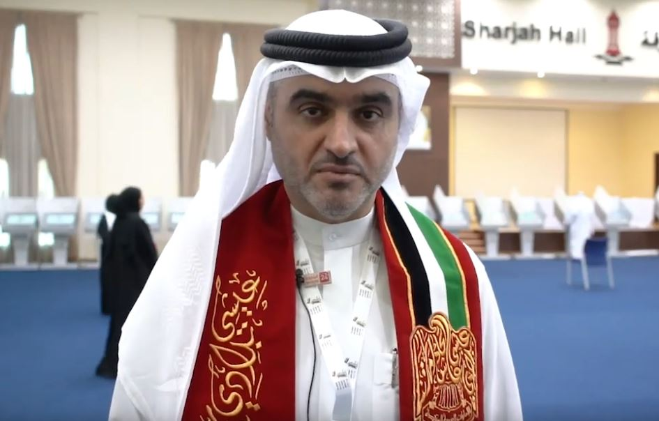 """#AlZarouni urges citizens to vote in """"#FederalNational"""" elections https://www.sharjah24.ae/en/sharjah/206260/Al-Zarouni-urges-citizens-to-vote-in-Federal-National-elections… #Sharjah24pic.twitter.com/qCf9CmMEU8"""