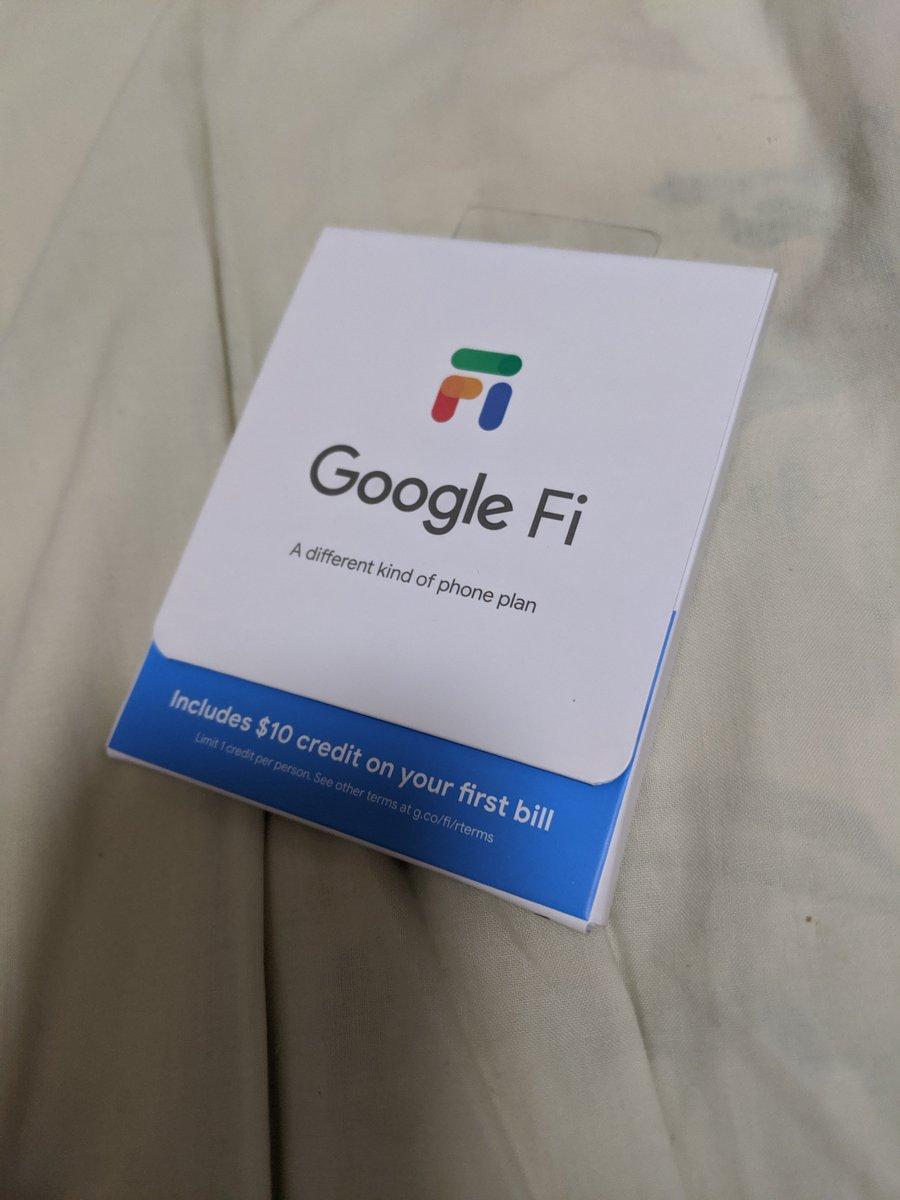前からほしかったのでポチってたGoogleFiSIM届いた。Google Fi日本からでもアクティベートできた。米住所が欲しかったのが鬼門。日本のGoogleアカウントでもいけたし、日本のクレジットカードでも通りました(決済住所は米住所)とりあえず直近使う予定があるのでUnlimitedプランにしてみた。