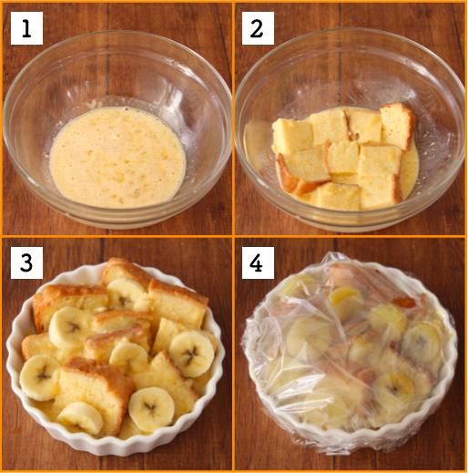 バナナが余ってしまった時はこれ!レンジで簡単、濃厚バナナフレンチトースト!