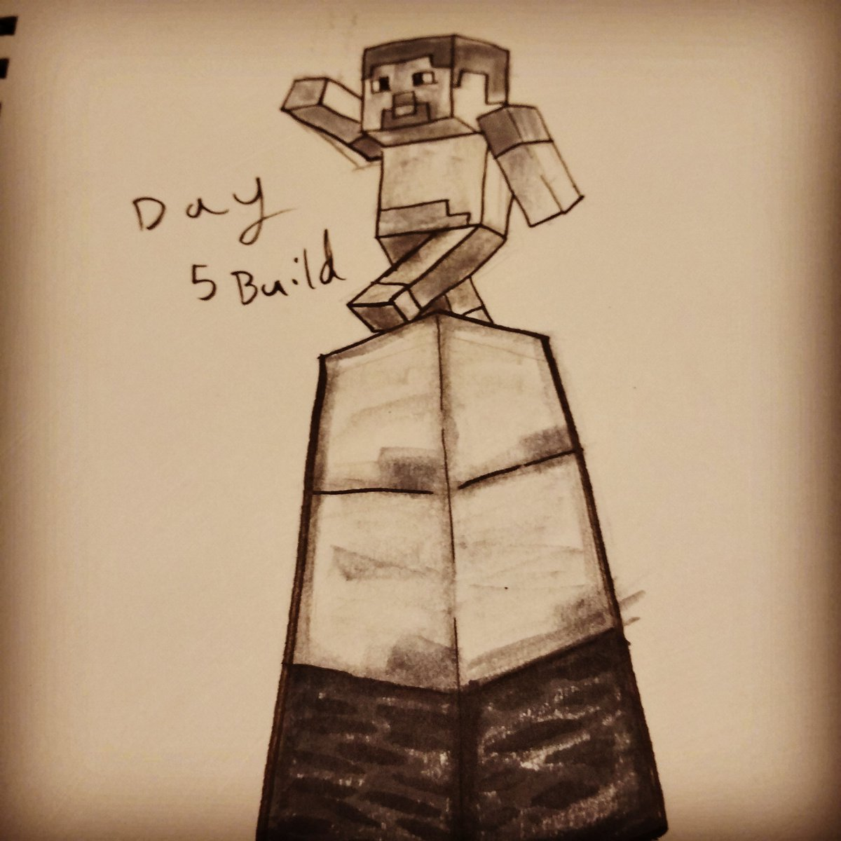 Today was a rushed day so for build I just did Minecraft for my #inktober2019  prompt #build  #fanart  #inktober #inktoberprompt #inkart #quicksketch #animationstudent #artchallengepic.twitter.com/8ehblZoN3J