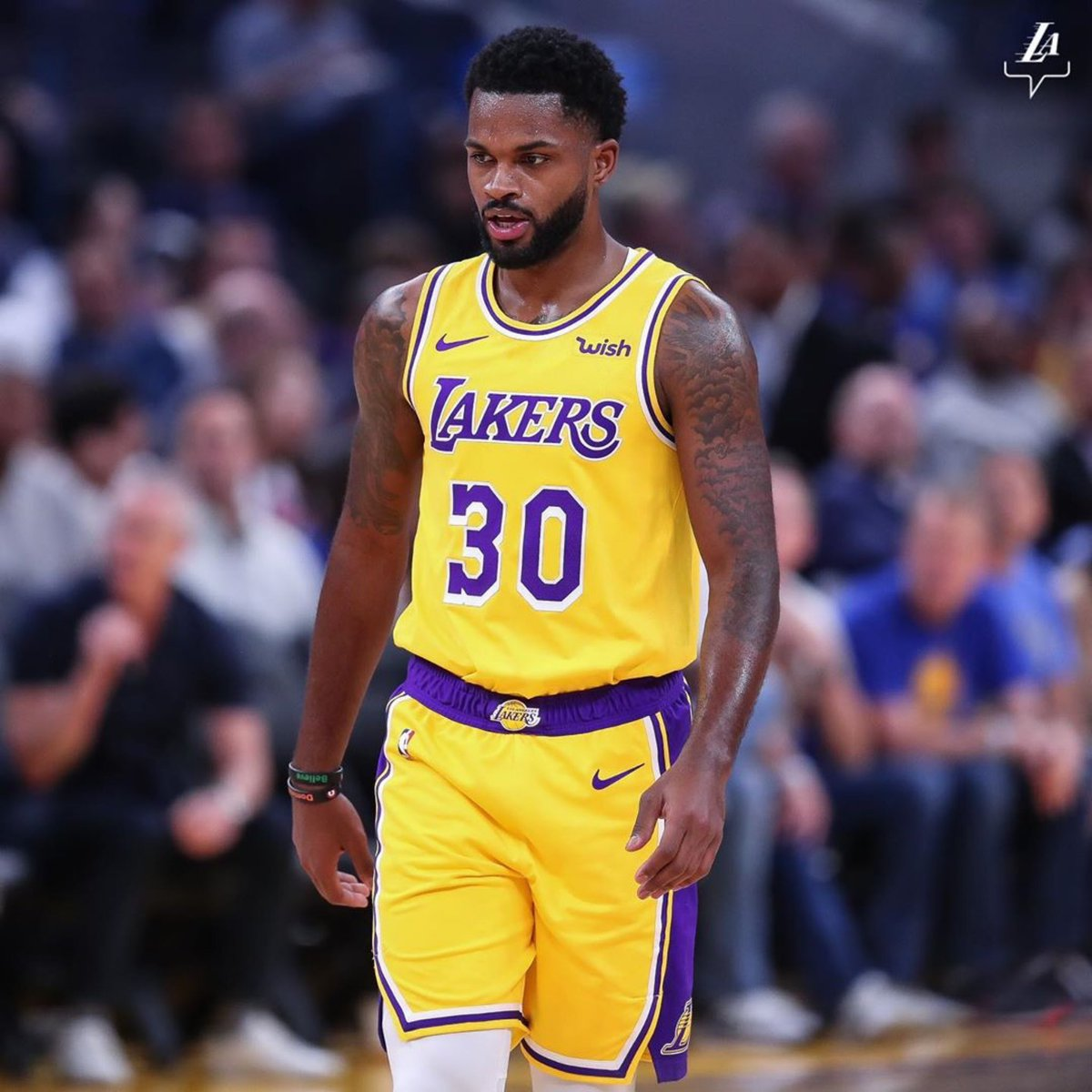 The Journey begins now..!! That purple and gold hit different. Great team win tonight.!! #LA #VA #lakeshow @Lakers