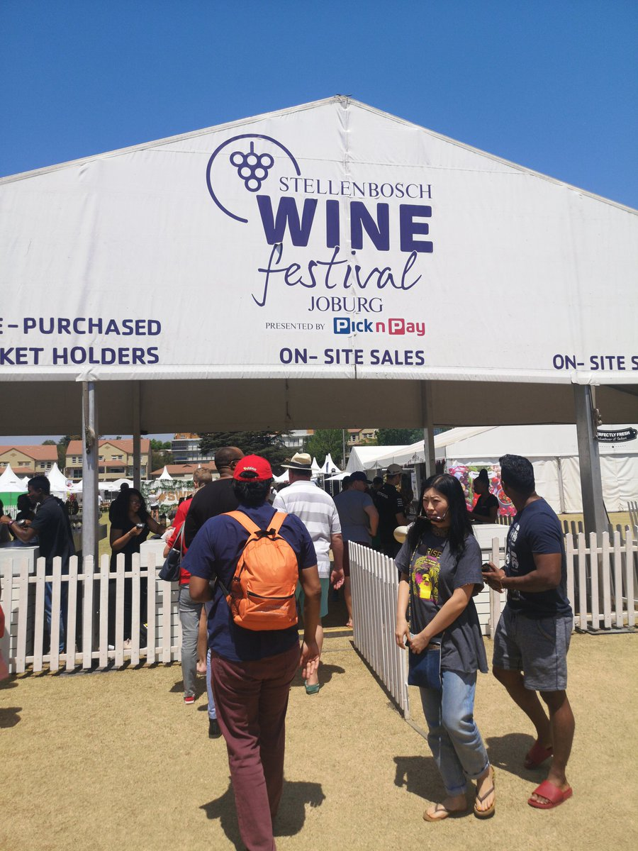 @StellWineFest @PicknPay #SWFJHB happening right now! @WanderersClub for Sunday wine sipping!