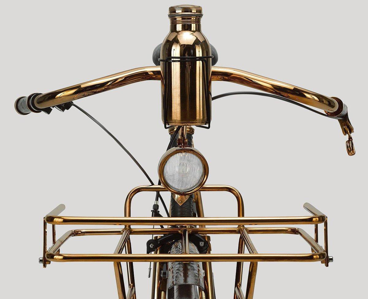 #Steampunk-ish ⚙️ Awesome of the Day: Brass #Bicycle 🚲 Handlebars via @BicyclingArt #SamaBikes