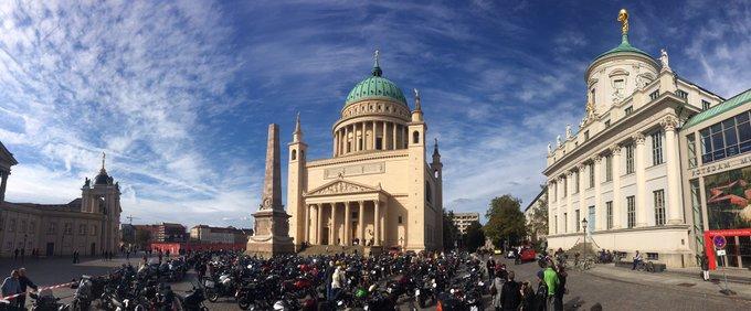 Mahn- & Gedenkfahrt von Berliner Bikern zur ev.