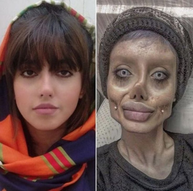 Sahar Tabar, sosie d'Angélina Jolie, arrêtée par la police — Iran