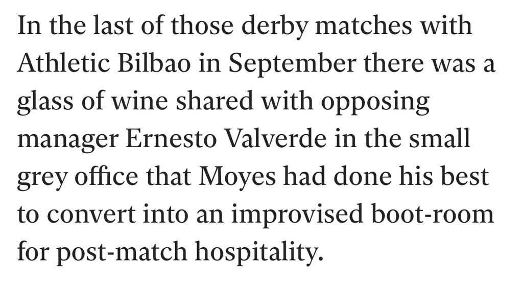 """Can't get over the image of David Moyes saying """"fancy a pint?"""" to every manager in La Liga and getting no takers, match after match https://t.co/vKTQC9JEdv"""