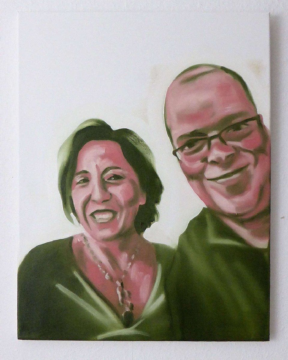 "Painted selfie with celeb ""You and me, Maria Pia"" 50x40cm, oil/can, more: https://bremer-galerie.de #kunst #art #artwork #eckhardbremer #contemporaryart #socialmedia #socialmediaart #conceptart #selfie #Promiselfie #painting #oilpainting #artontwitter #dortmund #malereipic.twitter.com/VDtMippGb7"
