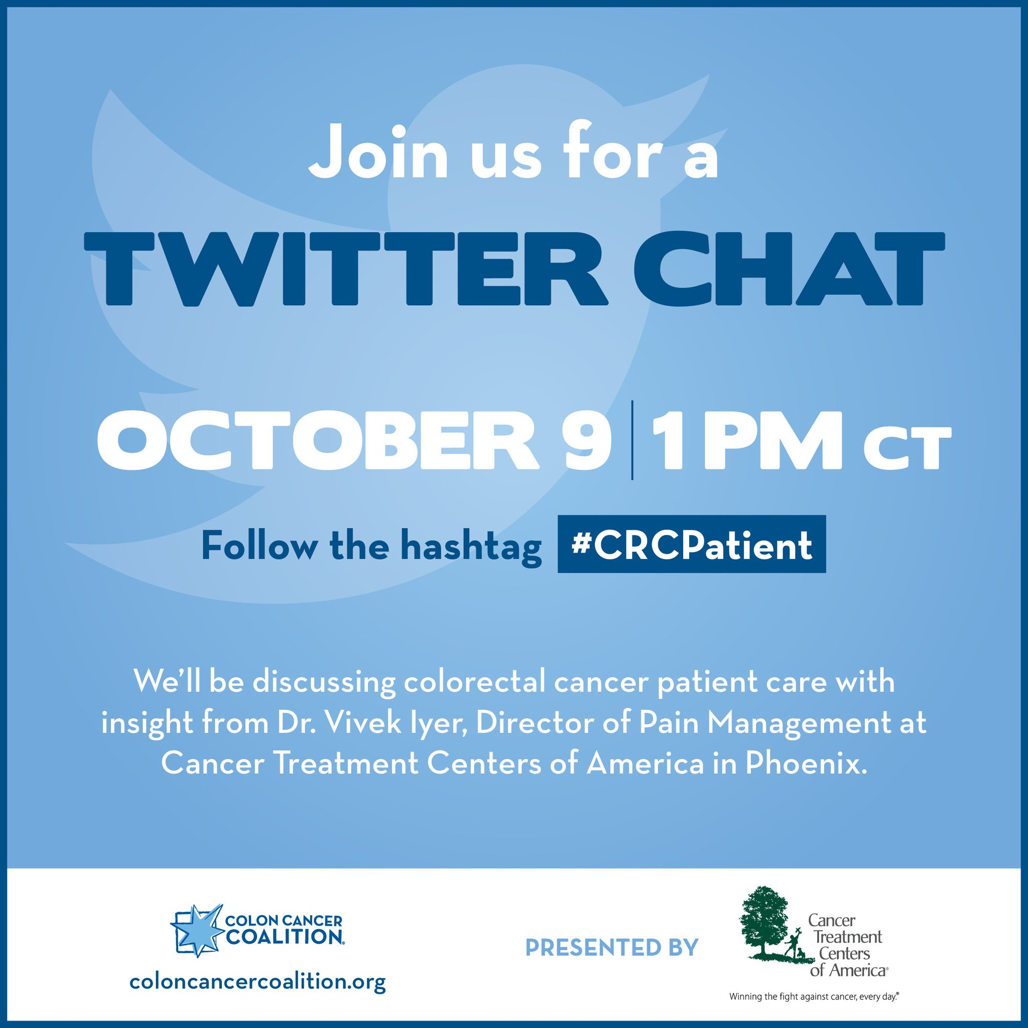 Colon Cancer Coalition On Twitter Chronic And Acute Pain Is Something Many Cancer Patients Are All Too Familiar With Dr Vivek Iyer Director Of Pain Management At Cancercenter In Phoenix Will Be
