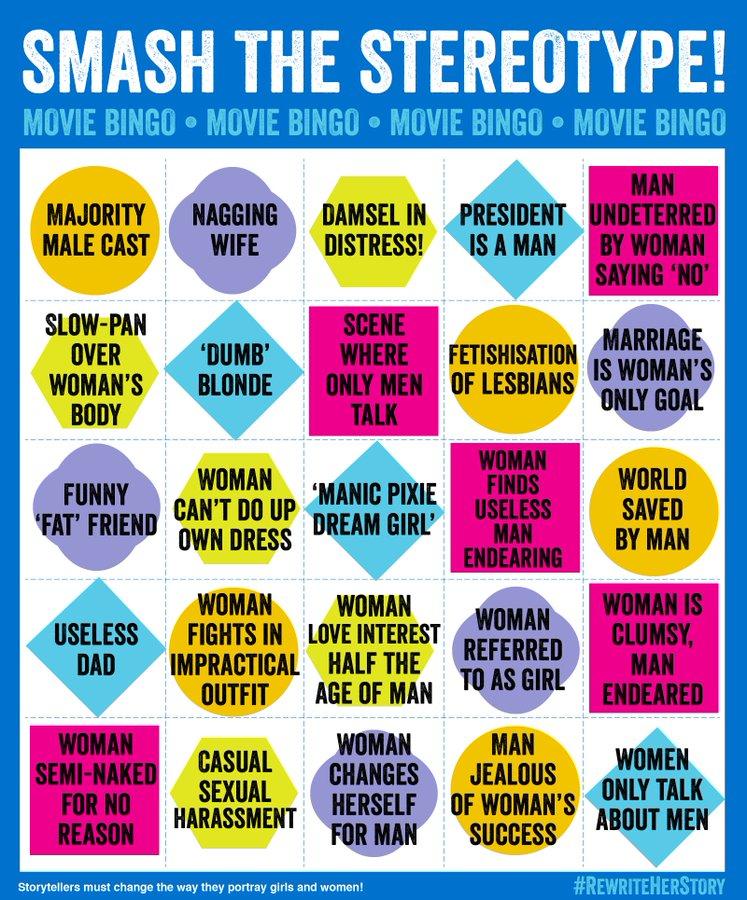 Sexist Movie Bingo
