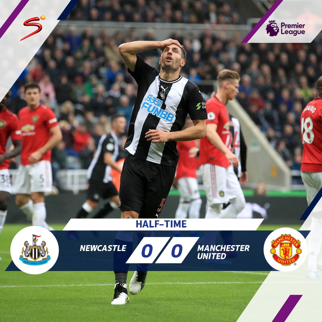 Its been a relatively dull first half at St James Park with Newcastle coming closest, having struck the crossbar. With the game there for the taking, will either team go on to win? Watch LIVE > bit.ly/SS_NOW