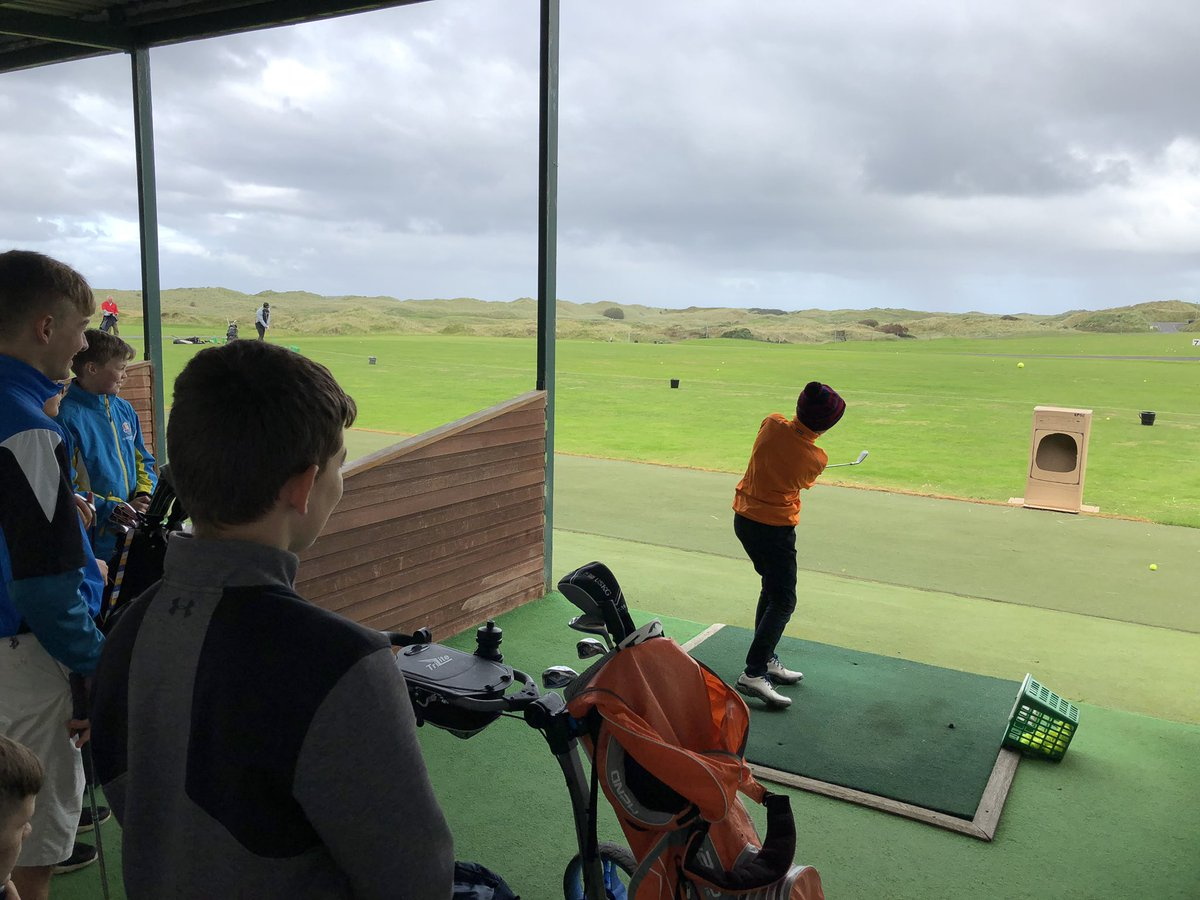 First day back for the @royalportrush junior boys winter programme... What better way than to follow in the footsteps of a major champion @McIlroyRory 🏌️♂️ #washingmachinechallenge #shortgame