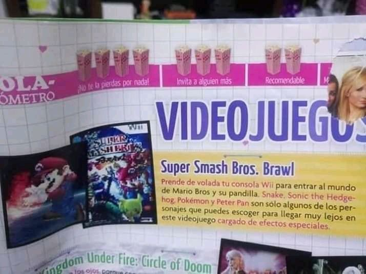 Prendela de volada 😂 🎮 😅 🎲 🤣 🕹️ 🤔  No sabía que el salía en el juego XD jajaja  #AfterBits #NintendoWii #SmashBrosBrawl