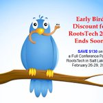 Image for the Tweet beginning: Early Bird Discount Registration to