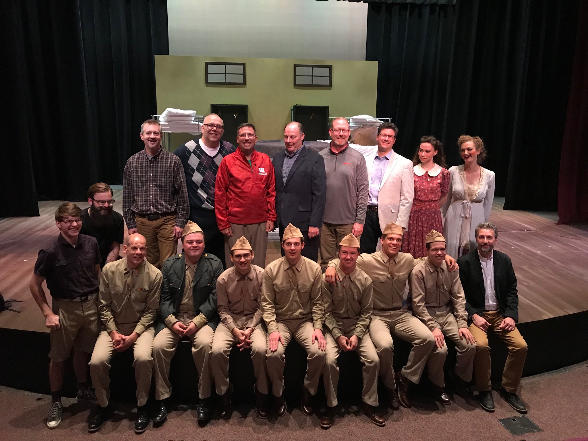 Wabash College On Twitter The Cast And Crew Of Biloxi Blues