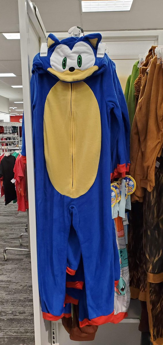 Treasurehuntingsonic On Twitter This Sonic Onesie Is Now Available At Target Sadly It S Only Kid S Sizes So If You Re An Adult You Still Have To Hunt Down The Original One If They