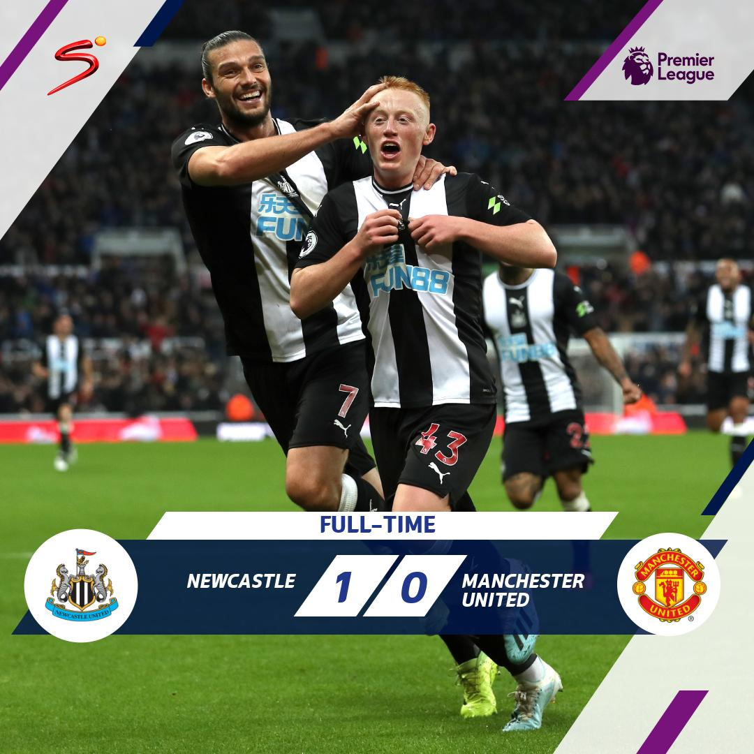 19-year-old Matthew Longstaff scored on his Premier League debut to hand Newcastle a 1-0 victory over Manchester United. Its Steve Bruces first win over the Red Devils in 23 attempts. #PL