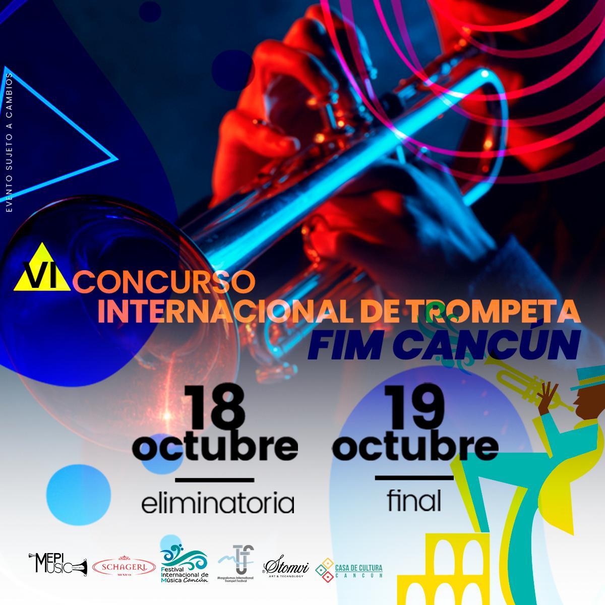 Fim Cancún 2020 в Twitter No Te Puedes Perder El Vi Concurso Internacional De Trompeta Habra Premios Del Primer Lugar Por Categoría Diploma Trompeta Modelo Profesional Una Beca Para
