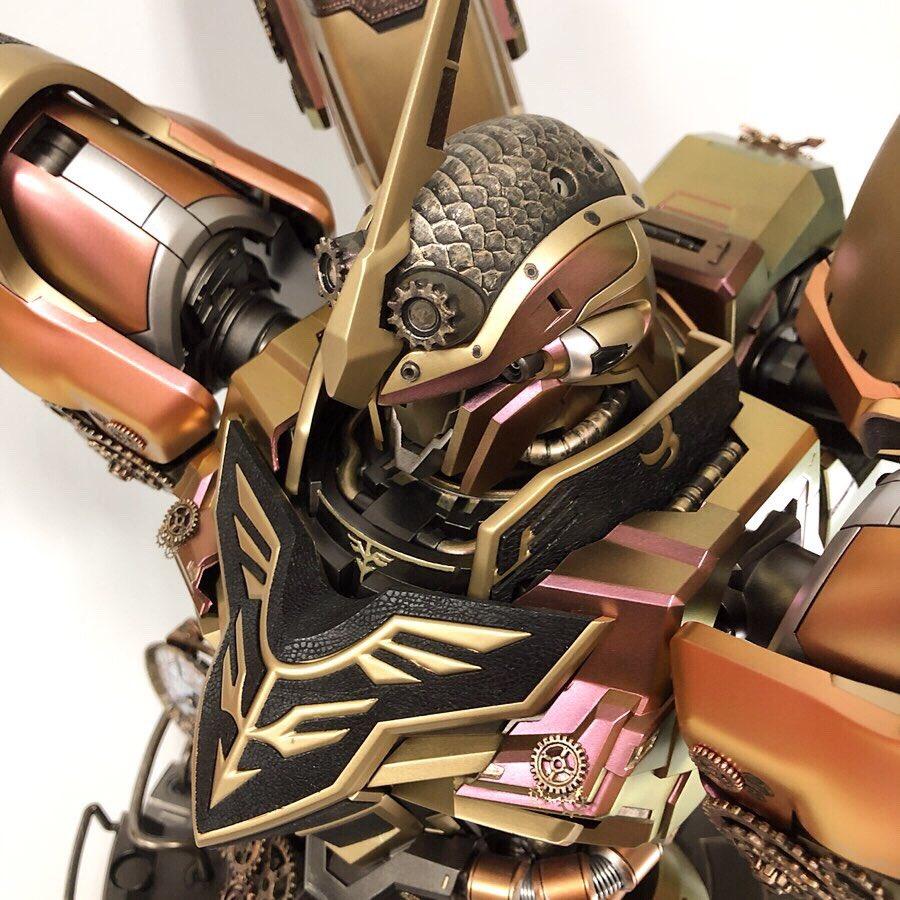 #Geek 🤓 Awesome of the Day: Bronze #Steampunk ⚙️ Industrial #Gundam 🤖 Toy Figure Made by @yarojin_ #SamaGeek #SamaToys