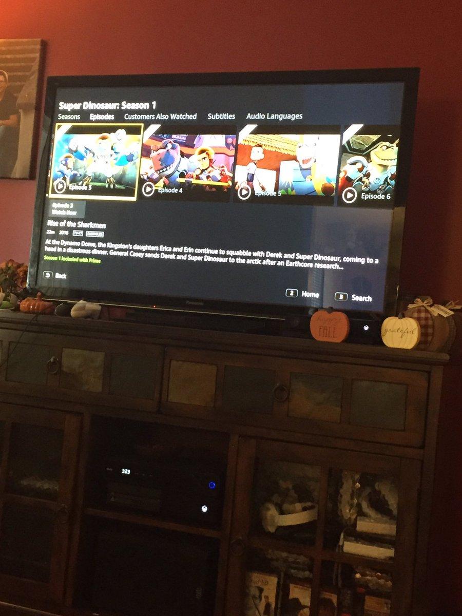 Watchin some TV on a Sunday. #SuperDinosaur @PrimeVideo<br>http://pic.twitter.com/L6e59OV3Zd