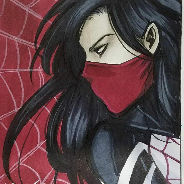 #silk commission at #nycc #nycc2018 #newyorkcomiccon #cindymoon #spiderverse #marvelcomics ift.tt/2ItVWoJ