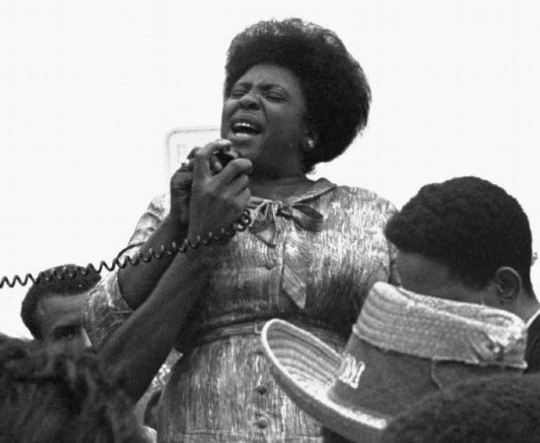 """Happy Birthday to the fierce and dynamic leader, Fannie Lou Hamer! She made an indelible impression on my life and work. """"Never forget where we came from and always praise the bridges that carried you over."""""""