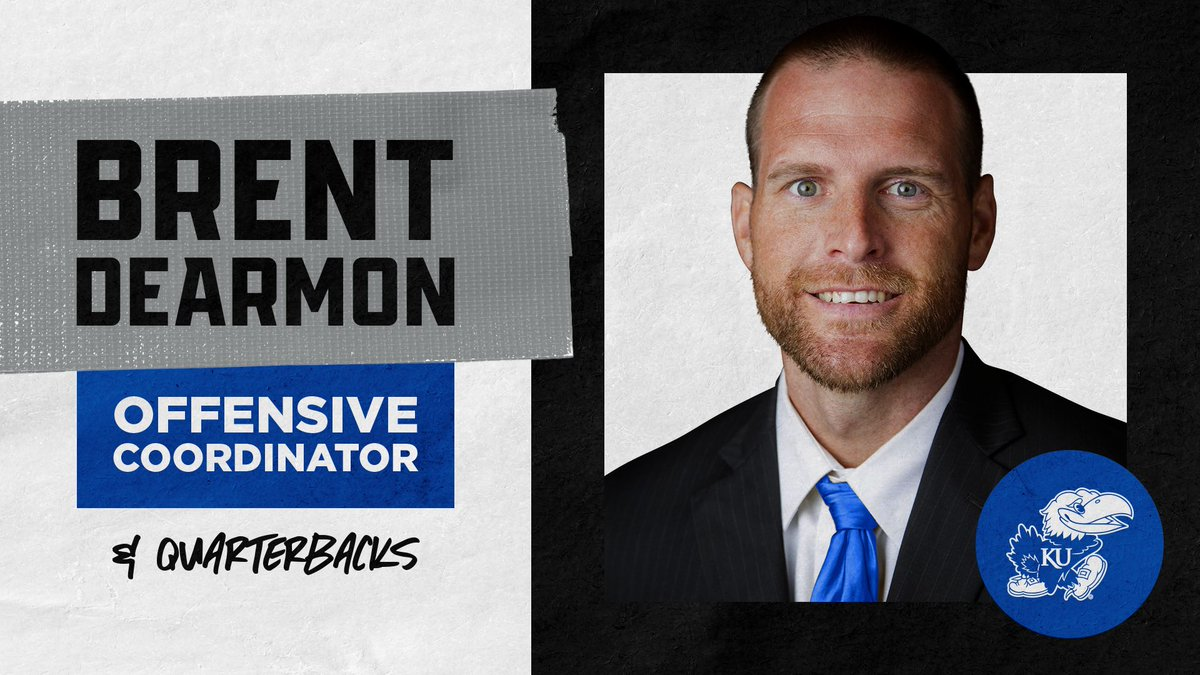 Brent Dearmon to take over as #KUfball Offensive Coordinator More ➝ kuathne.ws/2LQ6UHo