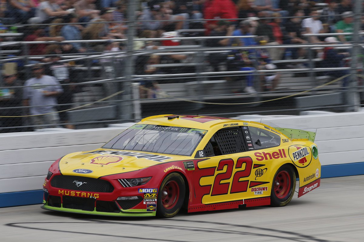Unfortunate start to today's race with a broken axel before lap 1. My @Team_Penske No. 22 crew busted their tails to get me back out and we scored as many points as we could and finished P34. On to @TalladegaSuperS #NASCARPlayoffs