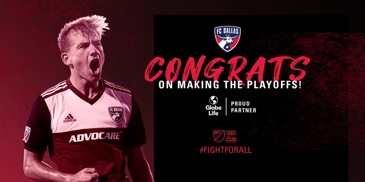 Congratulations to @FCDallas on making the @MLS playoffs!  #FCDallas will take on Seattle in the first round on October 19.  #FightForAll #DTID <br>http://pic.twitter.com/eu3faUcfhW