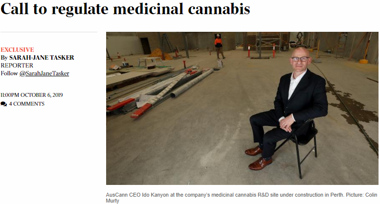 Our CEO Ido Kanyon in today's The Australian newspaper on call to regulate medicinal cannabis. https://t.co/RGyOd3Dp30 @australian @SarahJaneTasker #Pharmaceutical