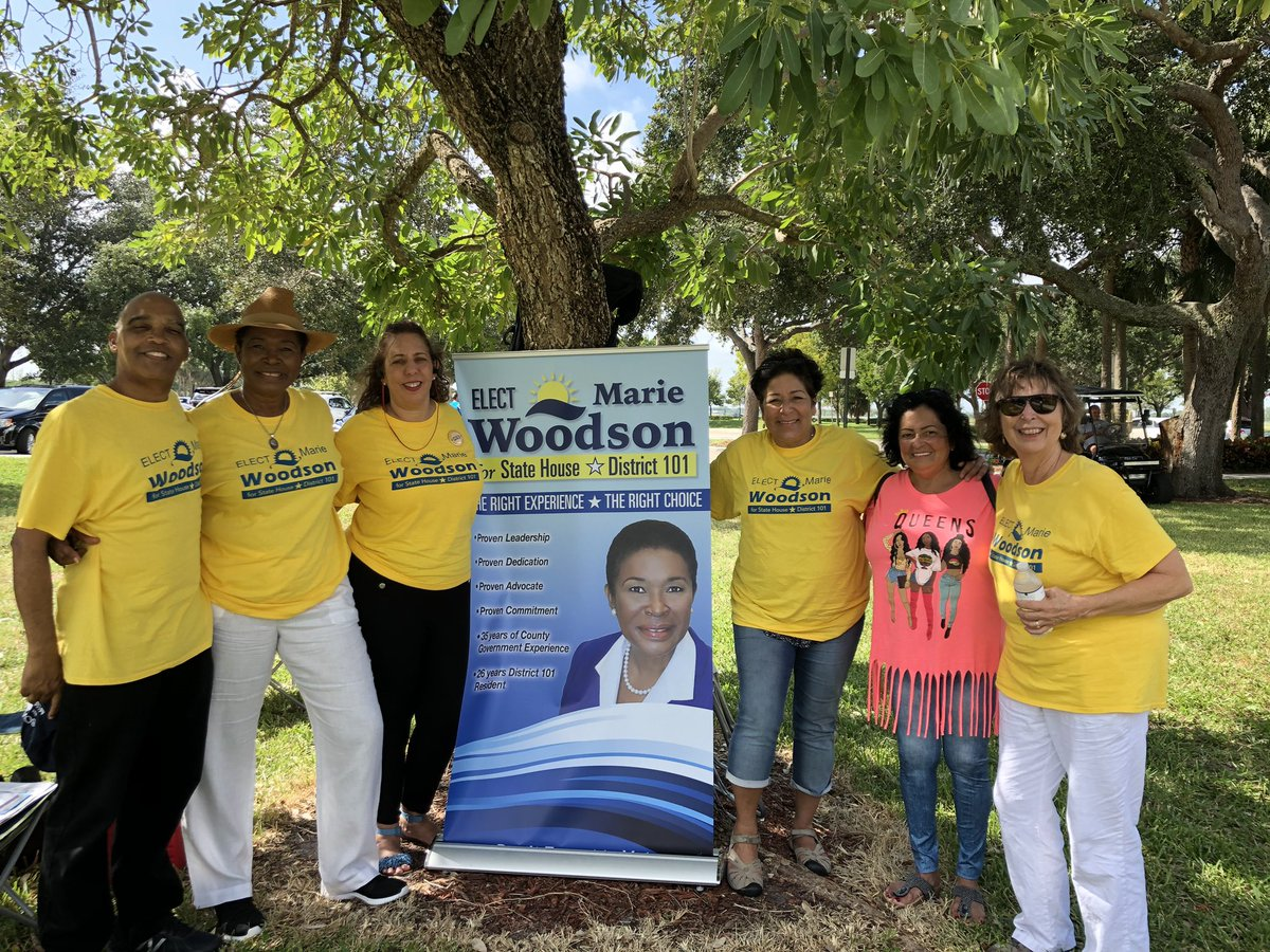 Thank you to the North Broward Dem Club! The work and dedication of this club is a true testament of our fight to win and flip as many seats as possible in 20'. Special thanks to our dedicated volunteers for joining us on a Sunday. We appreciate your precious time!   #TeamWoodson