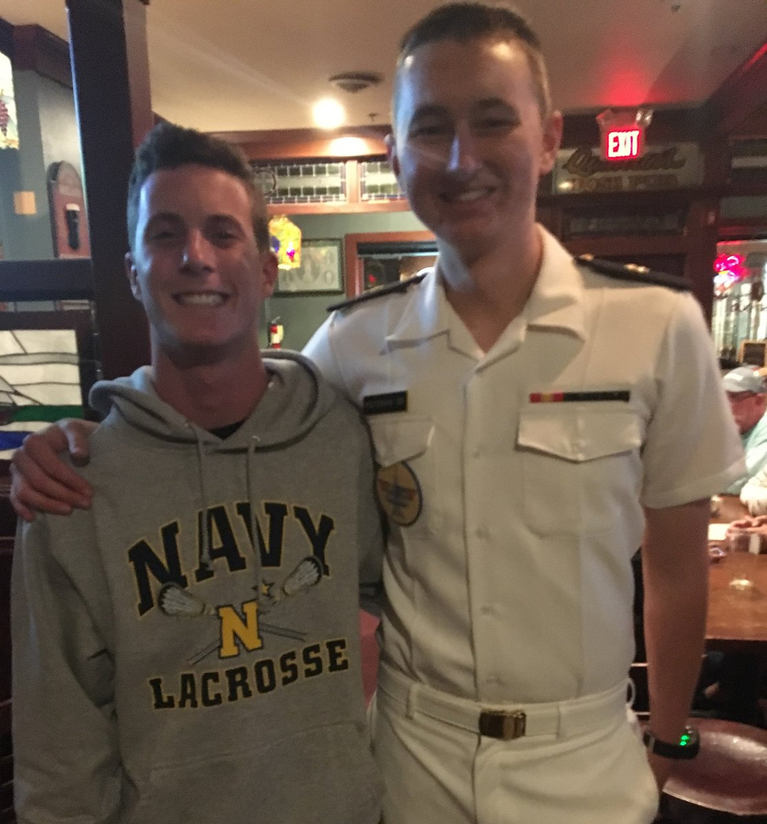 One of Bosco's Best from the Class of 2020, Blake Baldwin, visited the Naval Academy this weekend and had the opportunity to connect with Bosco Alumnus, Trevor Peitzman, from the Class 2019...     #BraveToMidshipman #ServiceToCountry <br>http://pic.twitter.com/5uIA4M9Y4a