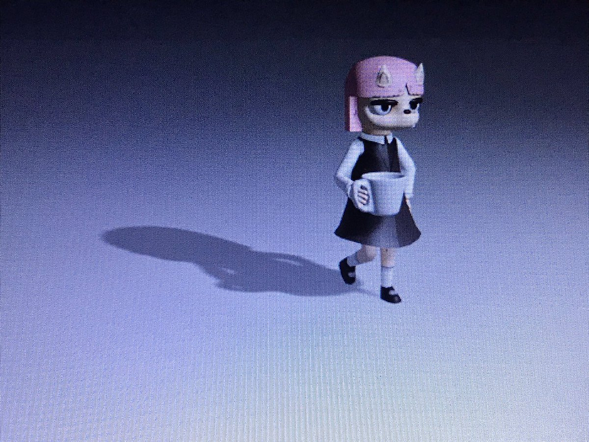 Susie and her cup of coffee            #Blender3d   #SummerCampIsland https://t.co/h05vKx0k1O
