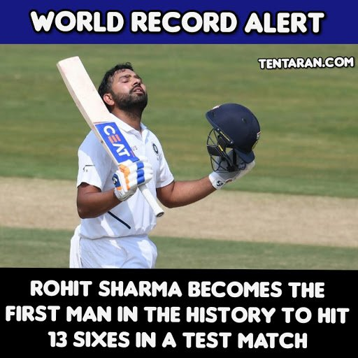 First match as test opener & Broke the Record like a BOSS  .  #INDvSA #SAvIND #CricketLife #CricketLover #Tentaran #Rohitsharma #ViratKohli #TeamIndia #BCCI<br>http://pic.twitter.com/gH3NImxEBf