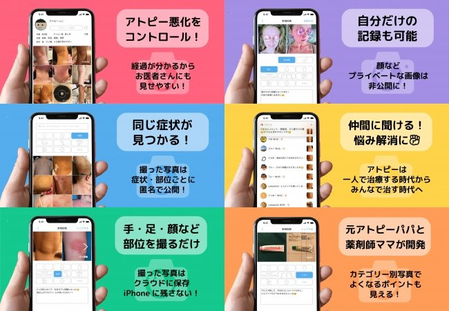 """日本初の""""アトピー見える化アプリ""""が経産省主催「ジャパン・ヘルスケアビジネスコンテスト2020」に登壇!元アトピーのパパが開発した無料iPhoneアプリ「アトピヨ」  @PRTIMES_JP"""