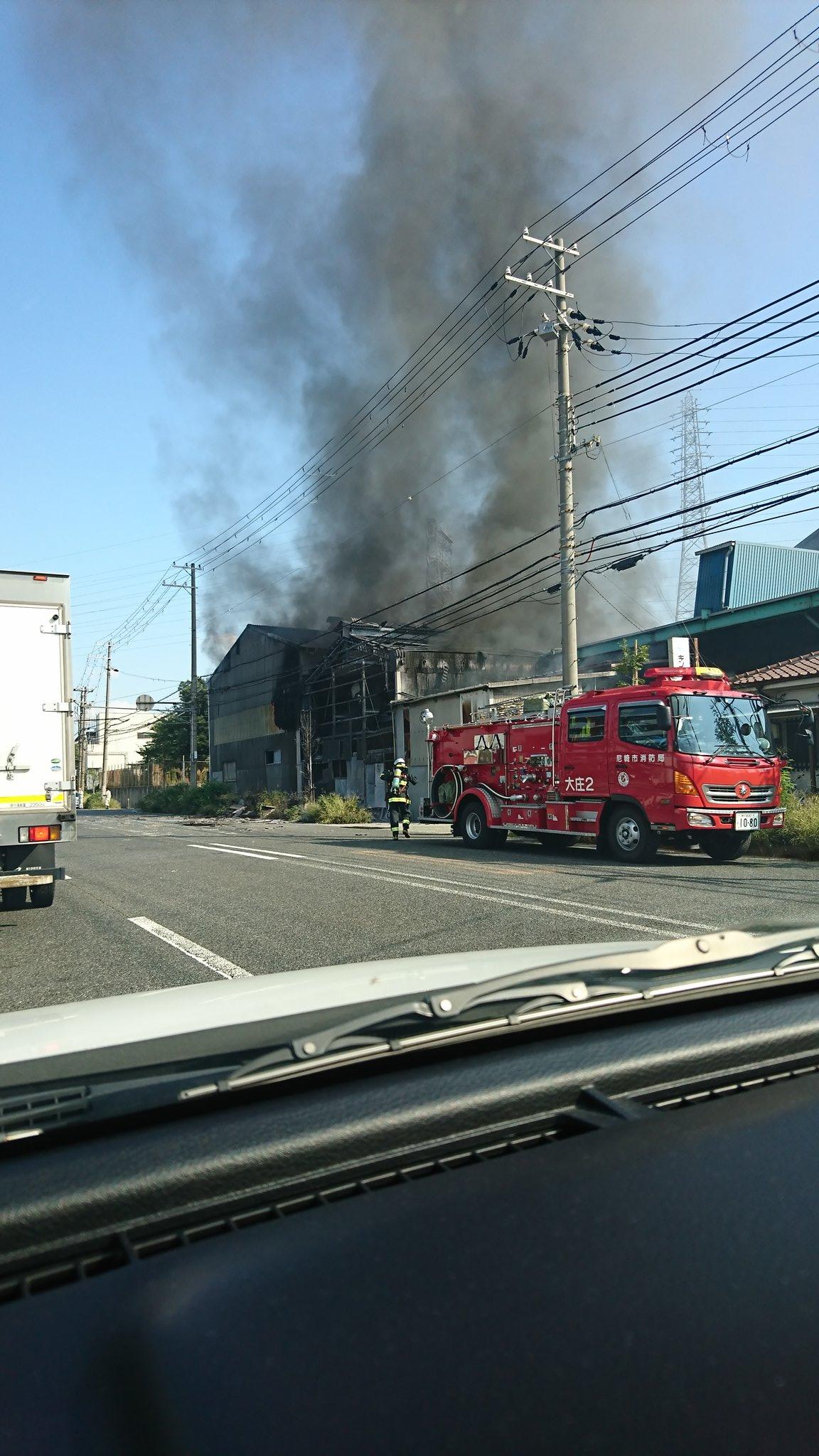 尼崎市元浜町の工場で爆発火災が起きた現場の画像