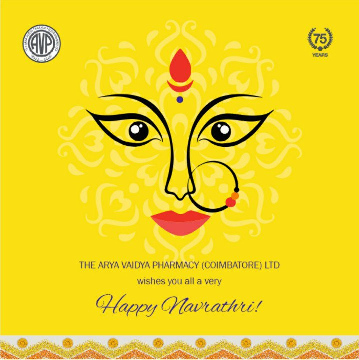 Happy Navarathri wishes from all of us at Arya Vaidya Pharmacy Coimbatore.... #happynavrathri