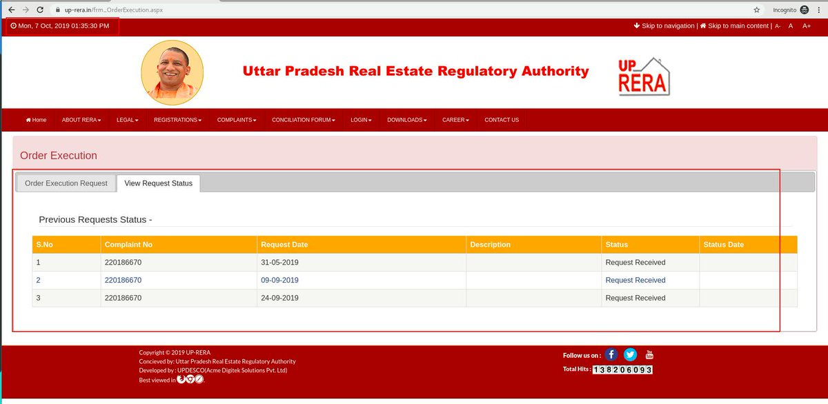 @UPRERAofficial @myogiadityanath @UPRERAofficial @myogiadityanath @abrardaj  No, Action on my case it was just fake update nobody has time to update status on case 220186670. #Homebuyers #RealEstate  #FastestComplaintResolver Javaan, Kisan and Engineer is cheated by builder and no support from Govt and #UPRERA!