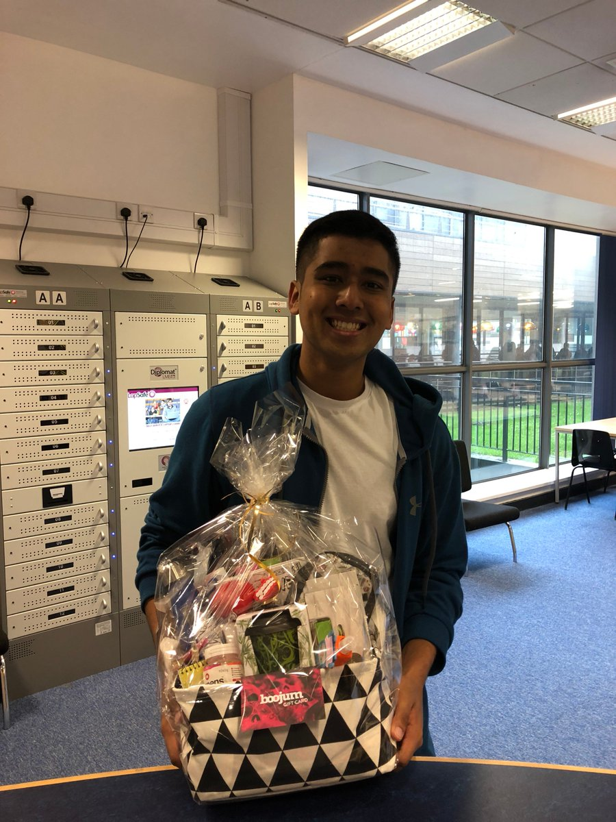 #Congratulations to our #FreshersWeek2019 winners Rubern and Alexandra. Enjoy your prize! #LoveQUBLibrary