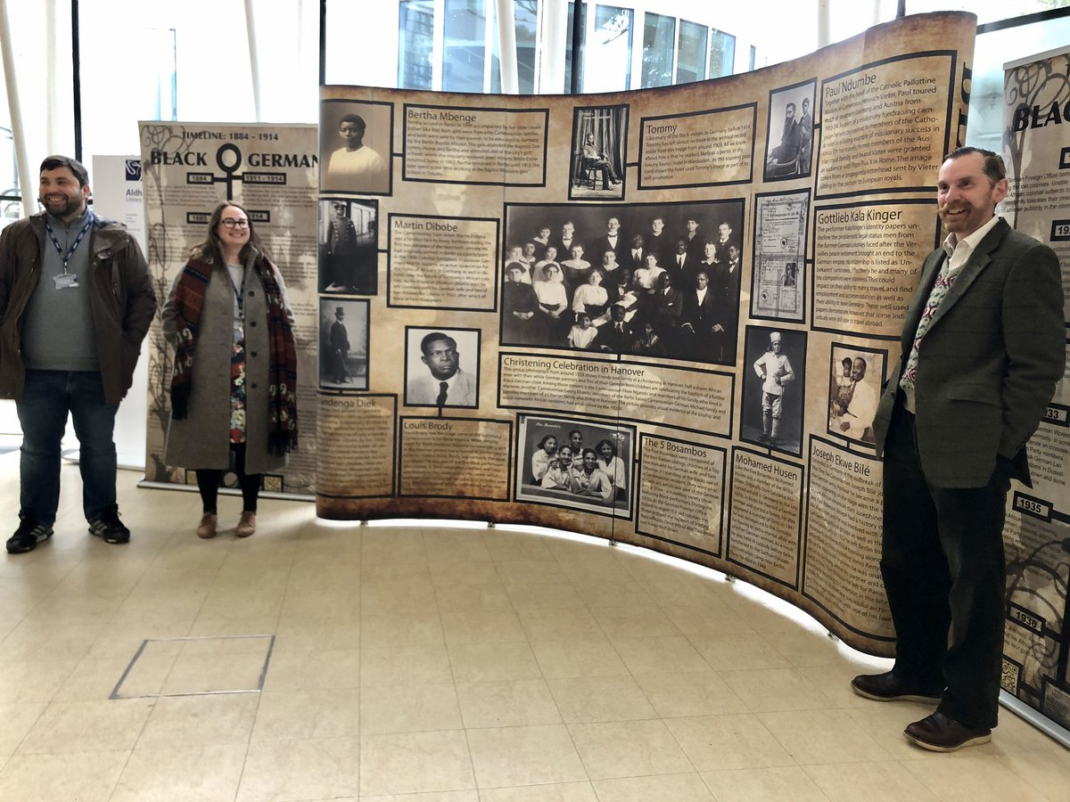We are declaring the Black Germans Exhibition officially open! Thank you @LJMUhistory, it looks great. #LoveLibraries #BlackHistoryMonth