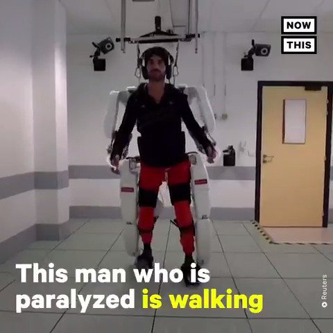 This brain-controlled exoskeleton allowed a man who is paralyzed to walk again