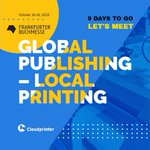 Image for the Tweet beginning: It's #FrankfurtBookFair time! Cloudprinter's team