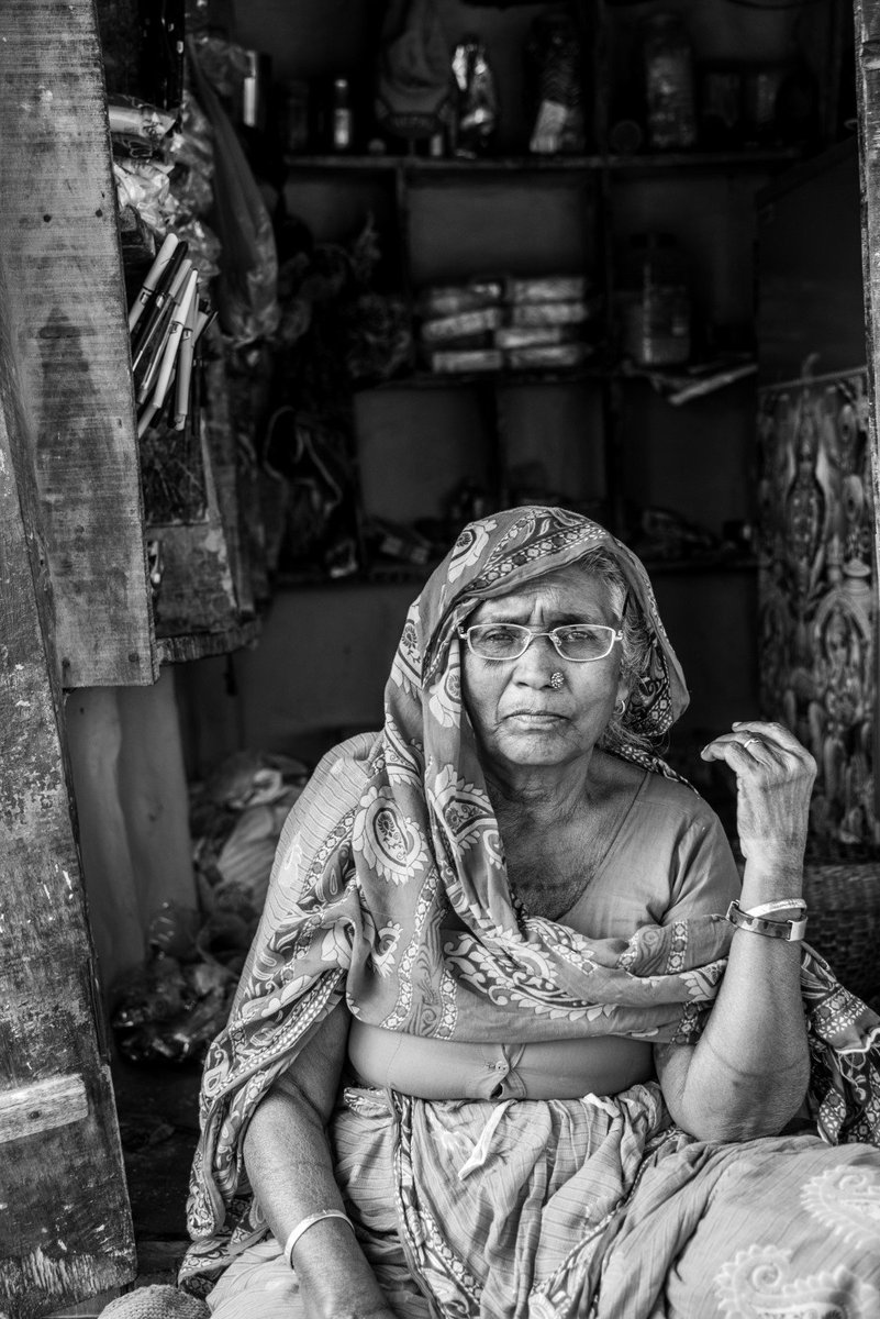 She has a little shop in the village. When business is slow, she also works on an adjacent kitchen garden to grow vegetables on land she rents and shares half of the produce with the land owner. Read more on our website. #Nepal #Madhes Photo @digitalsubway