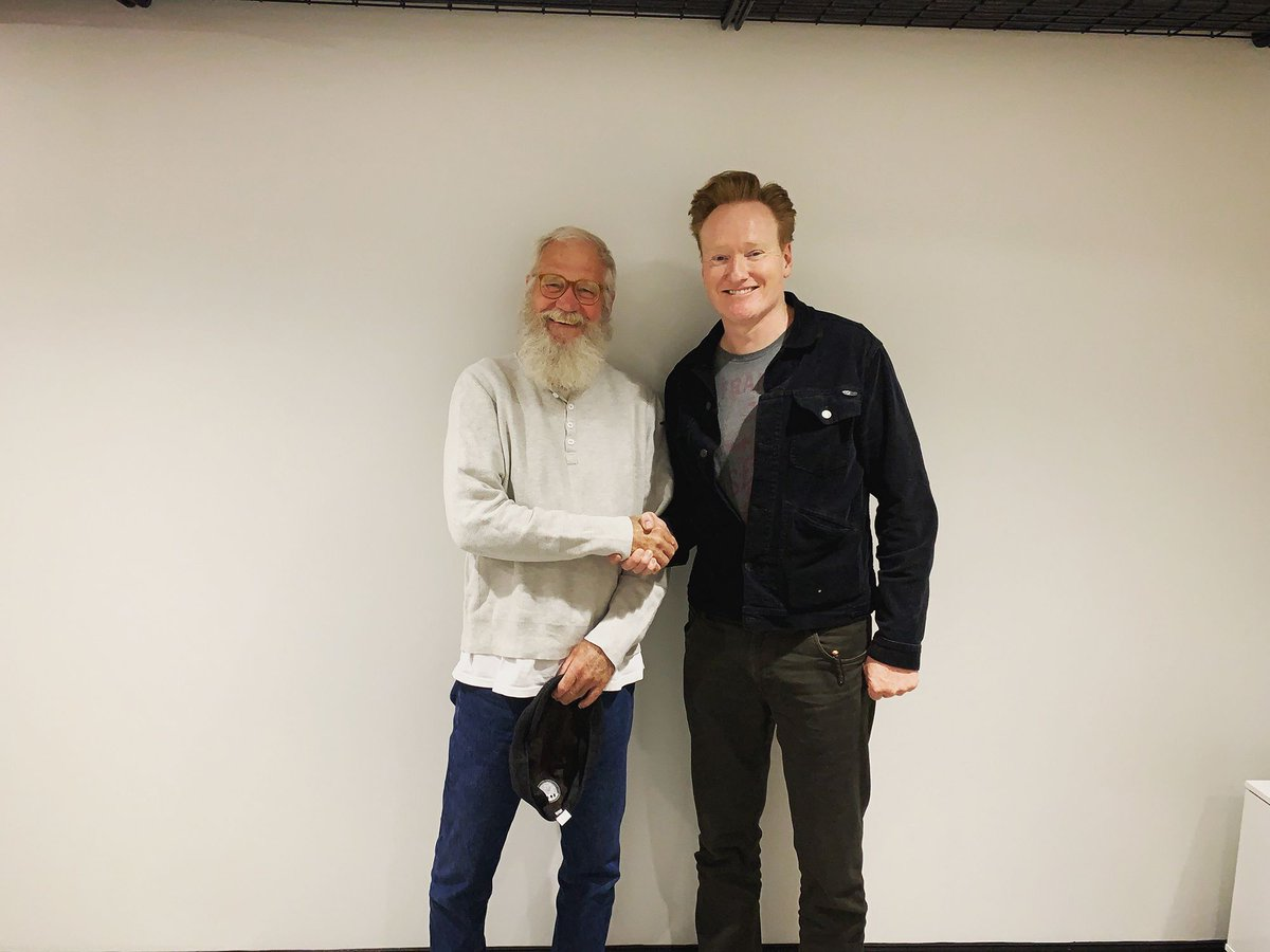 David Letterman is the reason I get to do whatever the hell it is I do for a living. Hear our conversation @ apple.co/TeamCoco