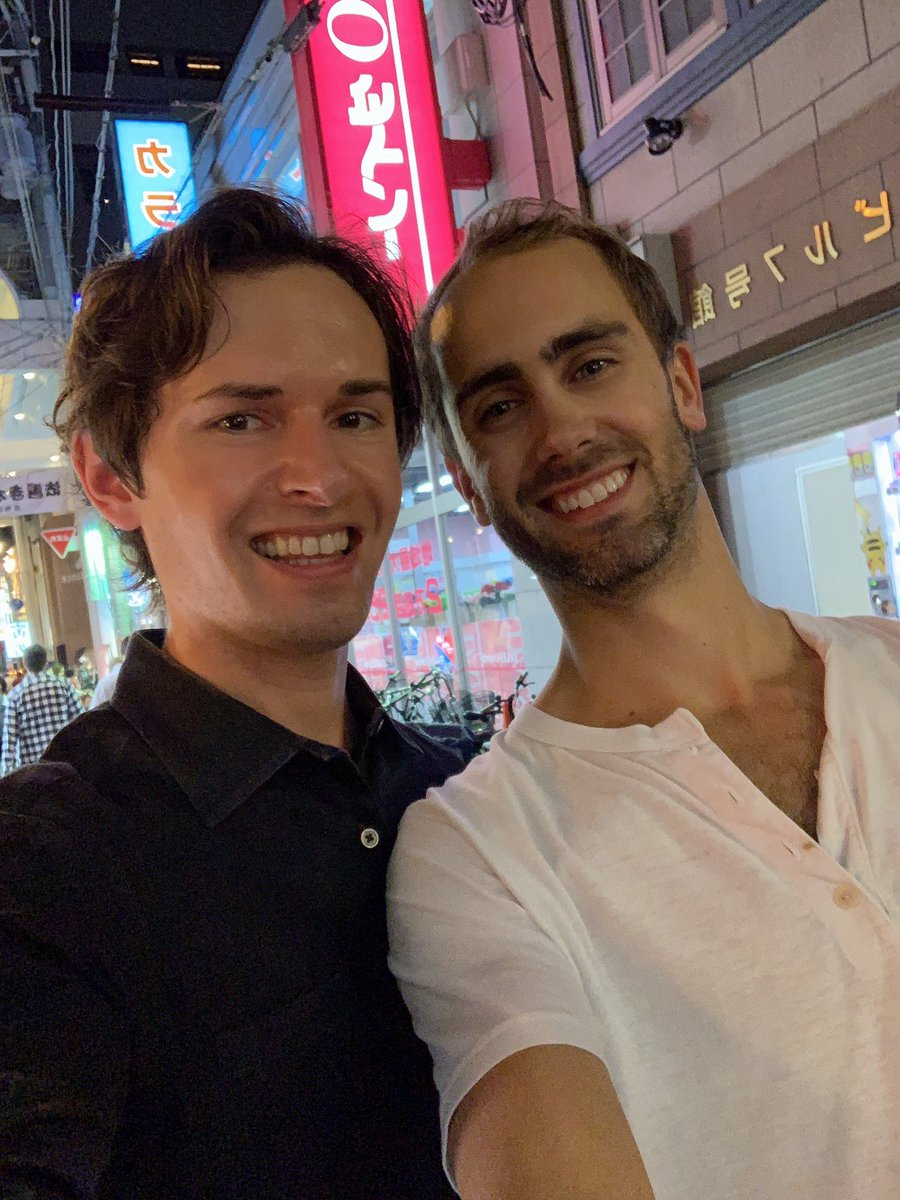 Met up with my brother-in-law in Osaka. He's a whiz Ethereum (cryptocurrency) developer and will be presenting at Devcon 5 here in Osaka.義理弟は仮想通貨の会議のため、大阪に来てる。