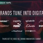 Excited to announce that on Thursday, @Bose & @Captify are welcoming a host of global brand marketers from the likes of @TripAdvisor, @dunkindonuts & @PUMA for a jam-packed day of panels & fireside chats! Register now ➡️: https://t.co/sTuMu013YL #BISummit @Brand_Innovator