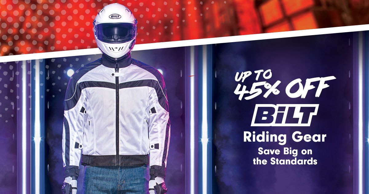 Up to 45% OFF on select BiLT gear.  BiLT Motorcycle Gear & Apparel: https://t.co/QDONh663uO https://t.co/patzW6TxSY