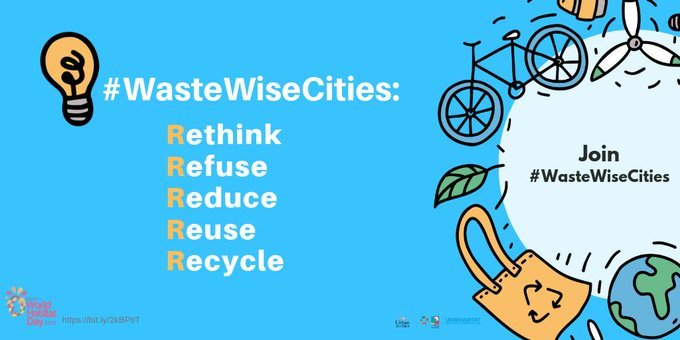#DYK? 3 billion people lack access to controlled waste disposal facilities. This #WorldHabitatDay, we invite cities to join @UNHABITAT and contribute to #WasteWiseCities by addressing challenges of municipal solid waste management bit.ly/2oU9Sl3