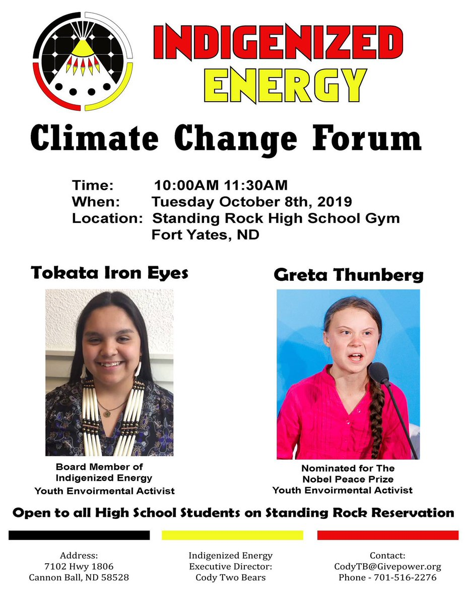 North Dakota friends, this is happening tomorrow! #ClimateChangeForum